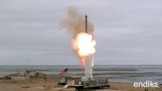 Estados Unidos realiza su primera prueba de un misil de medio alcance desde la Guerra Fría