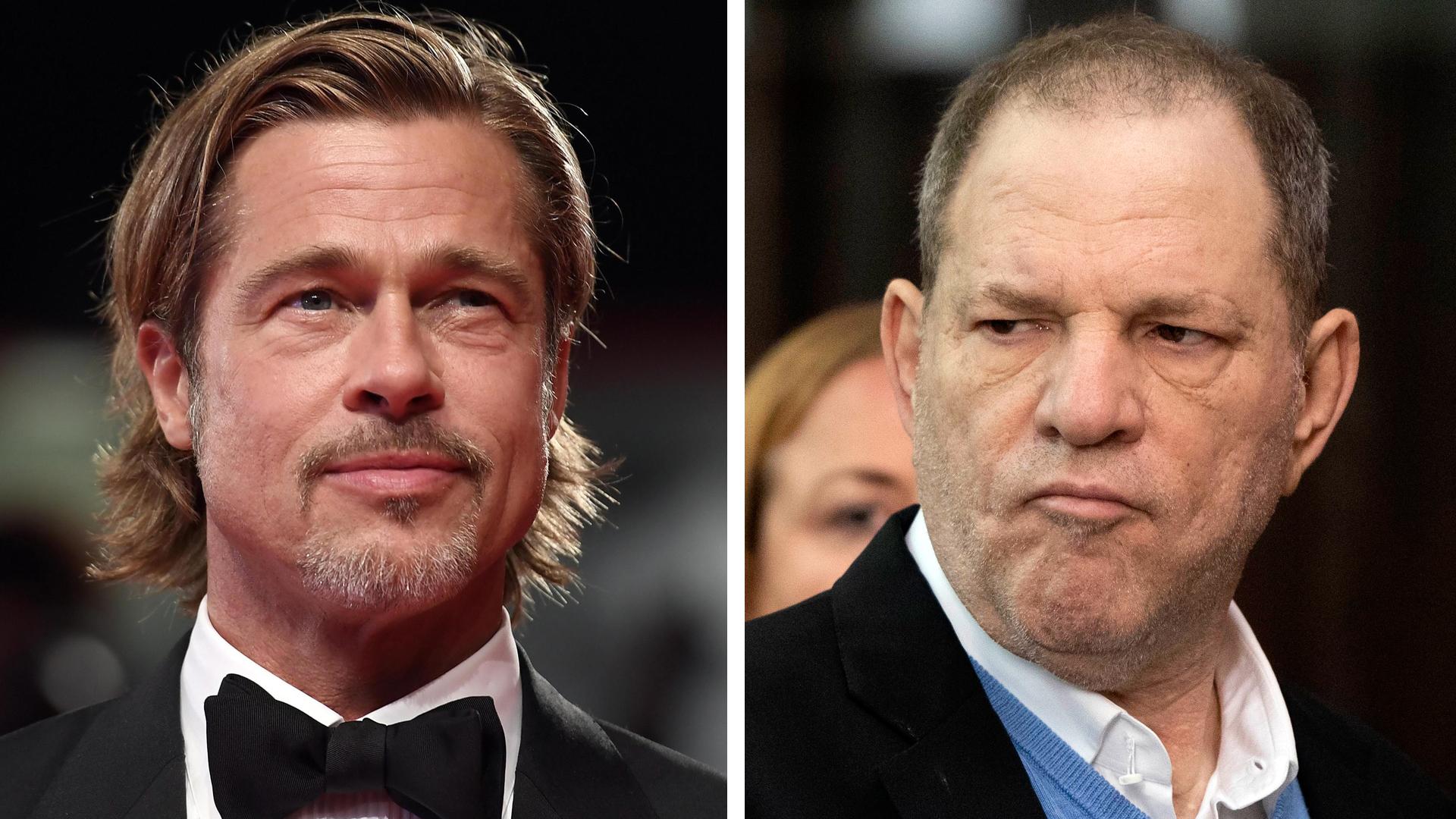 Brad Pitt le hizo frente a Harvey Weinstein para defender a su exnovia