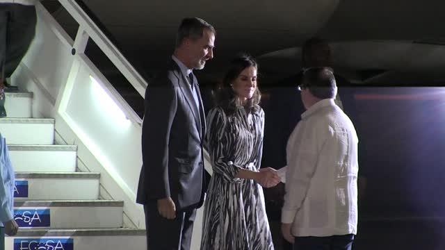 El Rey Felipe VI y la Reina Letizia Ortiz Rocasolano llegan a Cuba