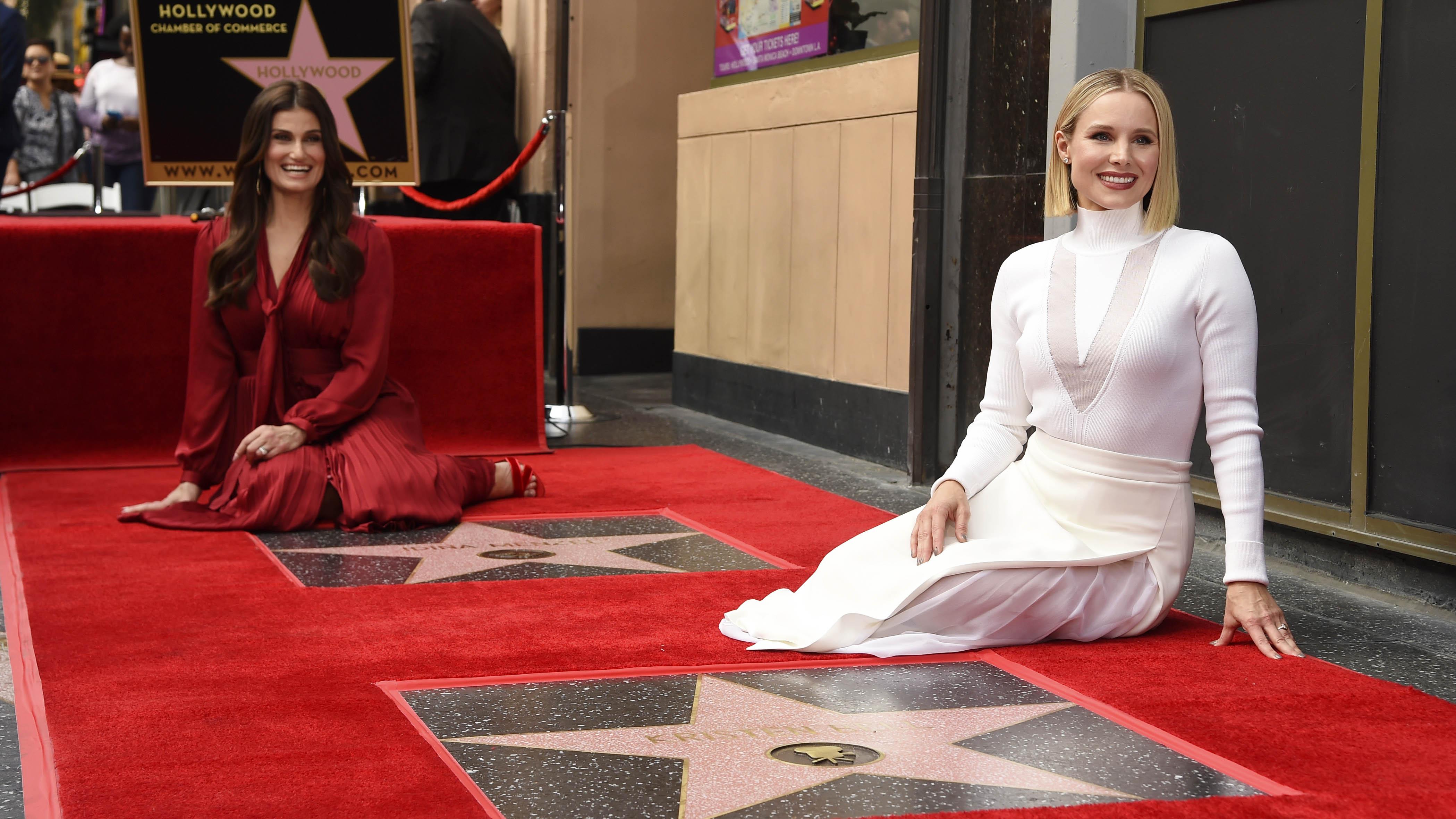 """Las estrellas de """"Frozen"""" aterrizan en el Paseo de la Fama de Hollywood"""